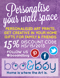 Personalised Prints and Personalised Gifts from Boo & Boy